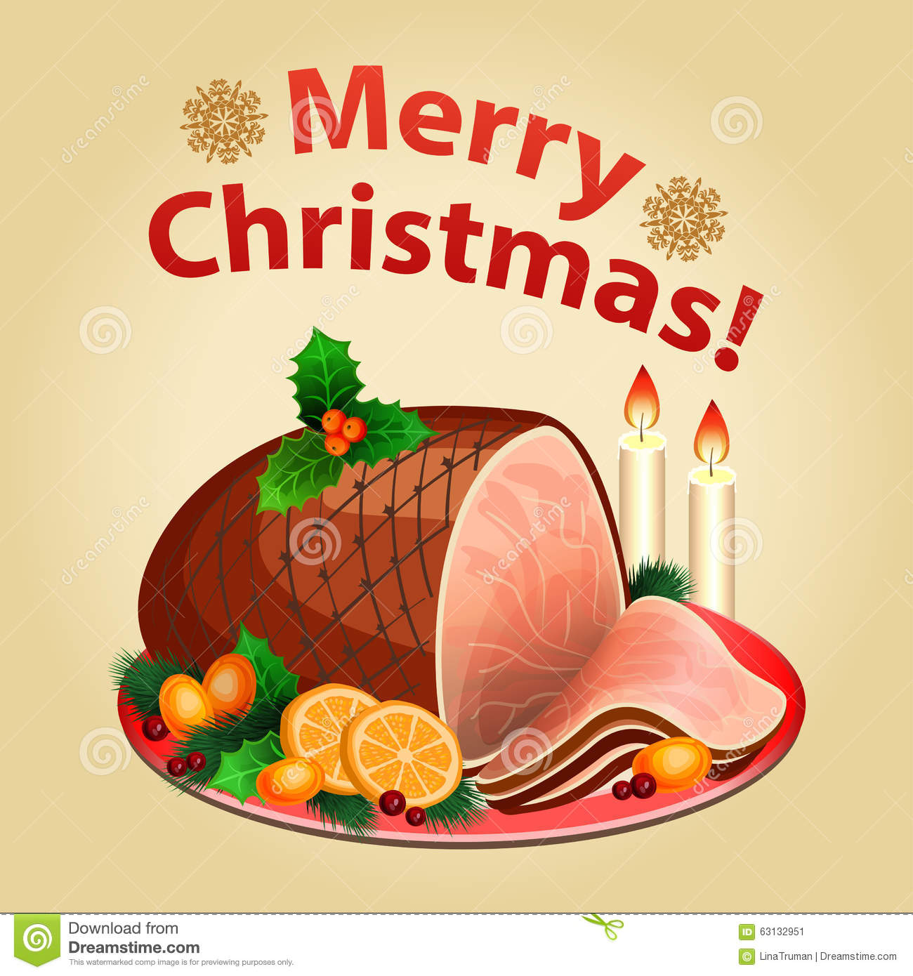 christmas ham feast clipart 20 free Cliparts | Download ...