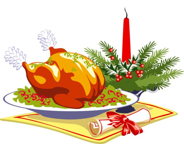Christmas Feast Clipart.