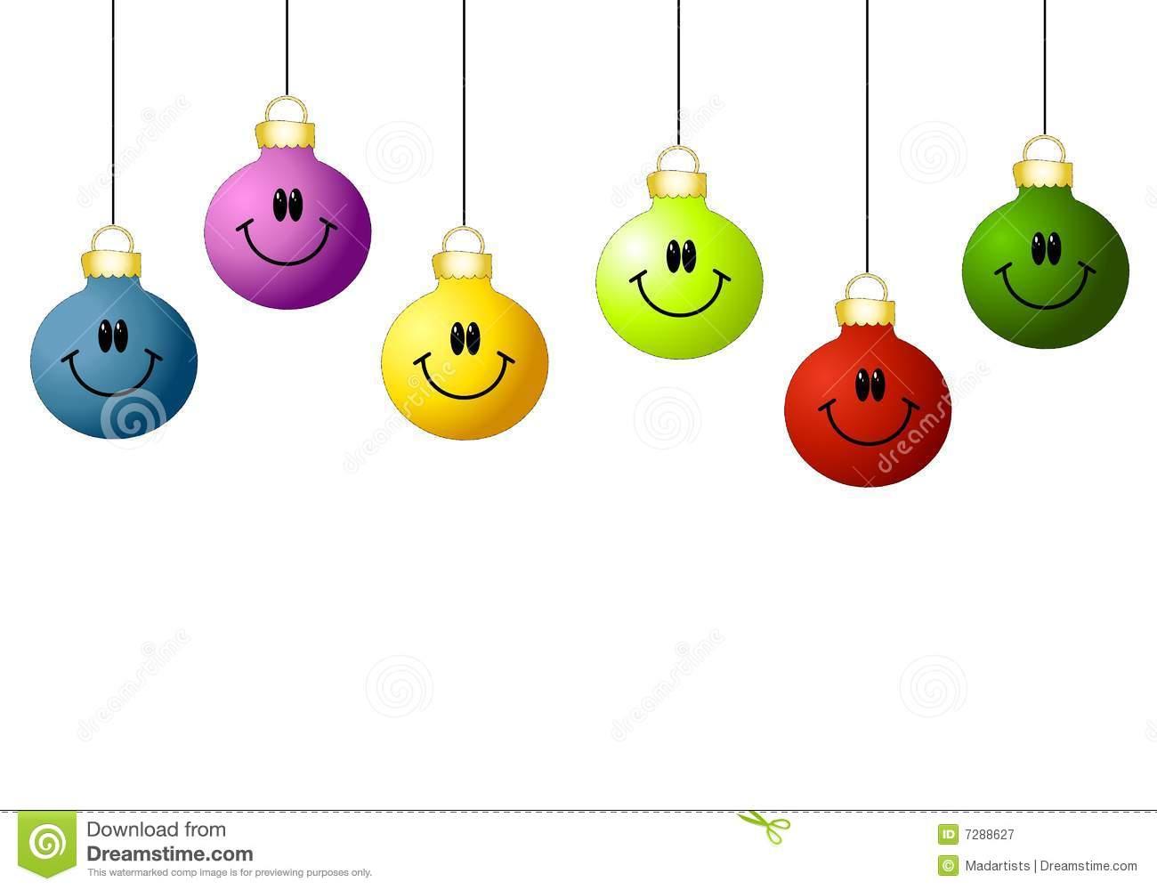 Smiley Face Ornaments stock illustration. Illustration of xmas.