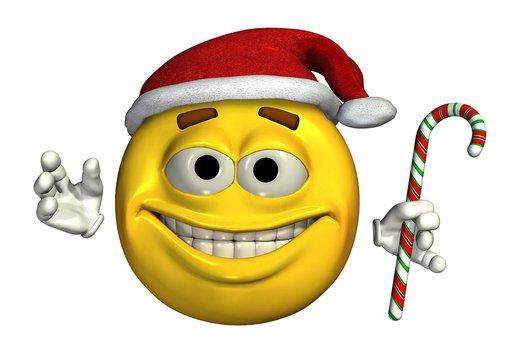 Christmas Smiley Faces Clip Art.