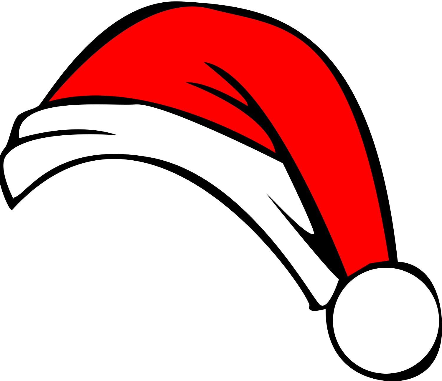 Christmas hat clipart outline.