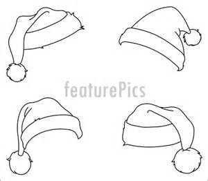 Similiar Black And White Santa Claus Hat Keywords.