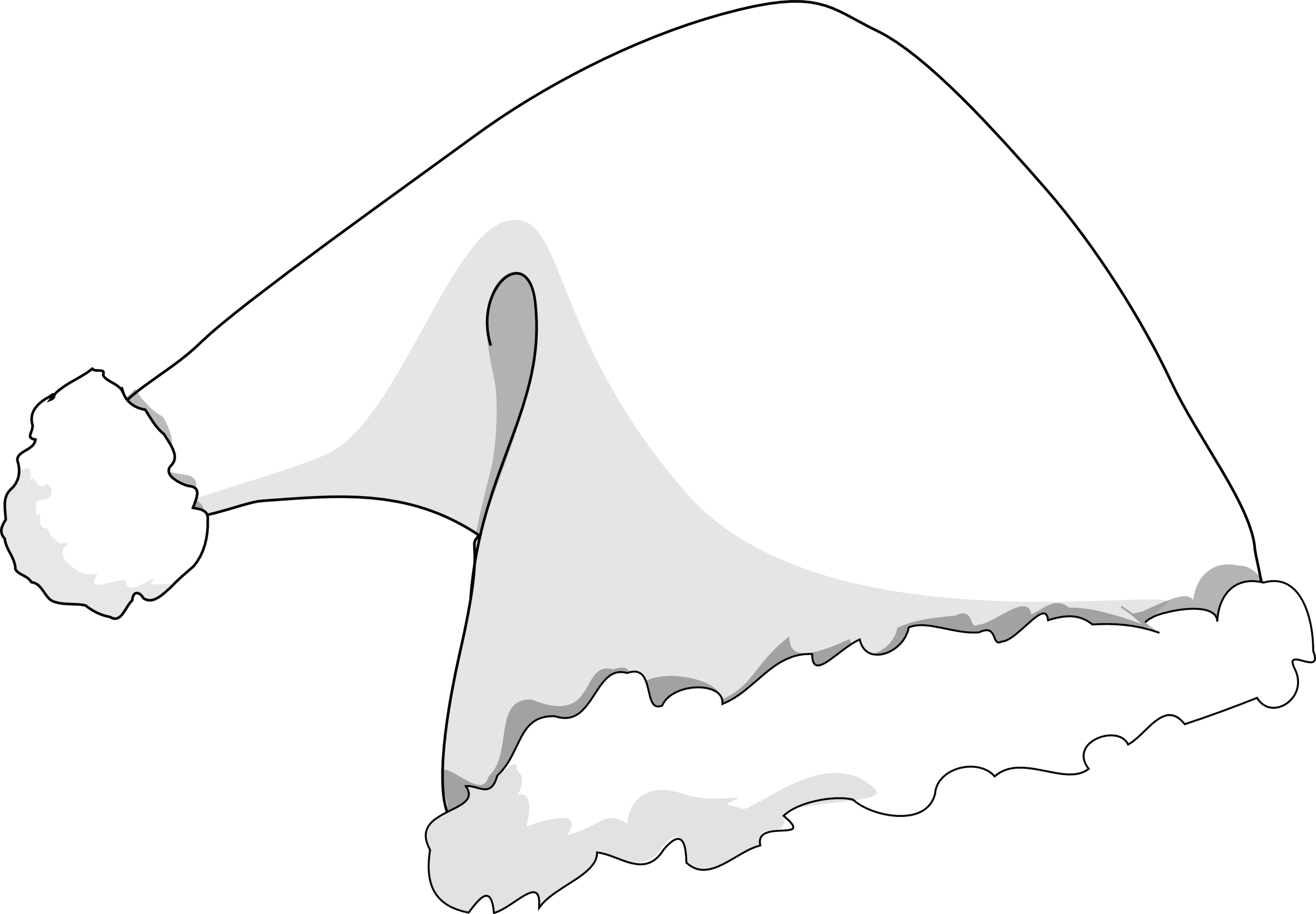 Similiar Black And White Elf Hat Keywords.