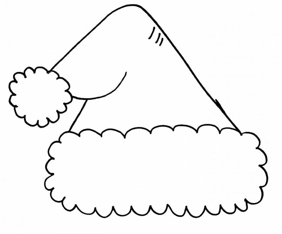 Christmas Hat Clipart Black And White.