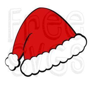 FREE Santa Hat SVG File.