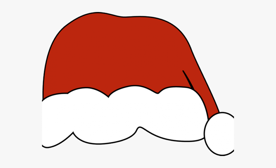 Santa Hat Clipart Drawn.