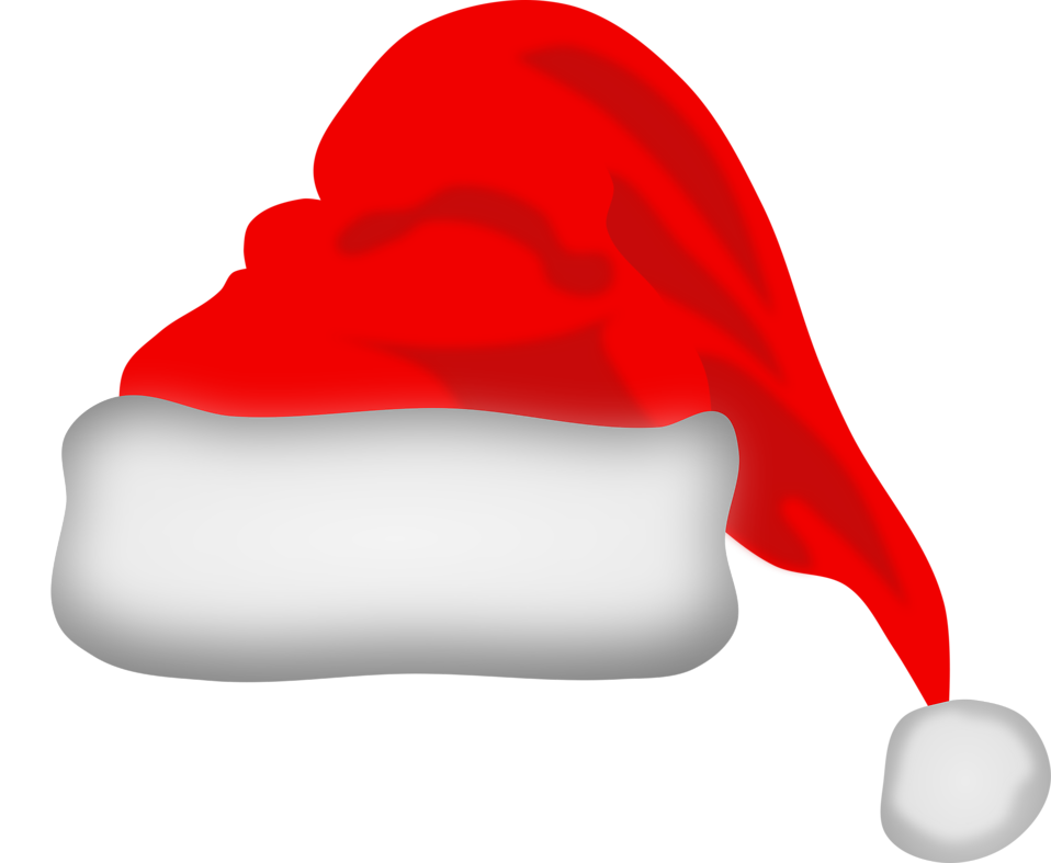CHRISTMAS SANTA HAT CLIP ART.