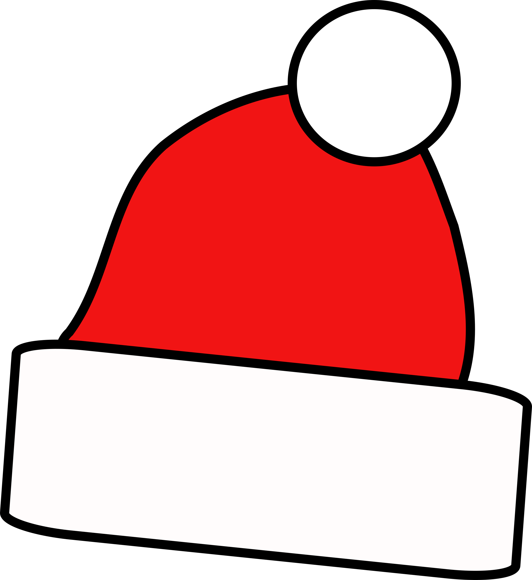 Christmas Hat Clipart Outline Clipground