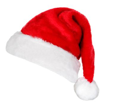 Christmas Santa Claus Hat PNG Transparent Images.