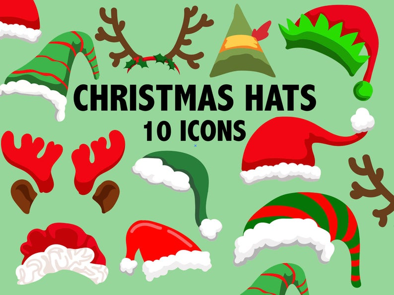 CHRISTMAS HAT CLIPART.