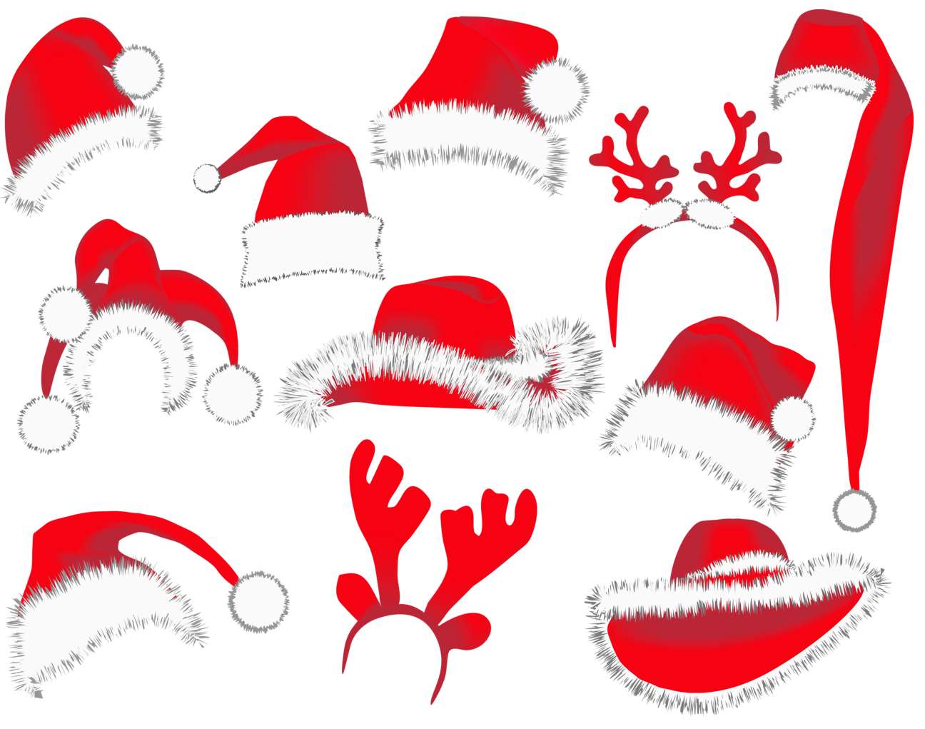 Christmas Hats PNG Clipart Picture.