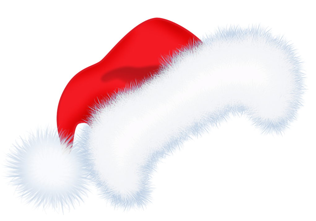 Large Santa Hat PNG Transparent Clipart.