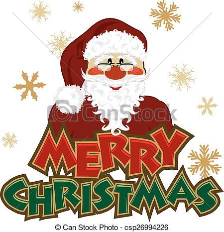Santa Icon with Christmas Header.
