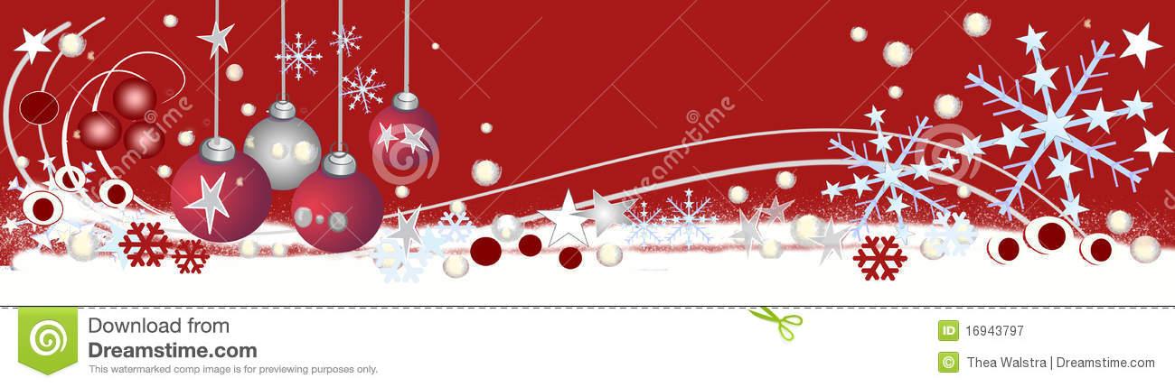 Decorative Christmas Header Stock Illustration.