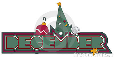 December Icons Royalty Free Stock Photo.
