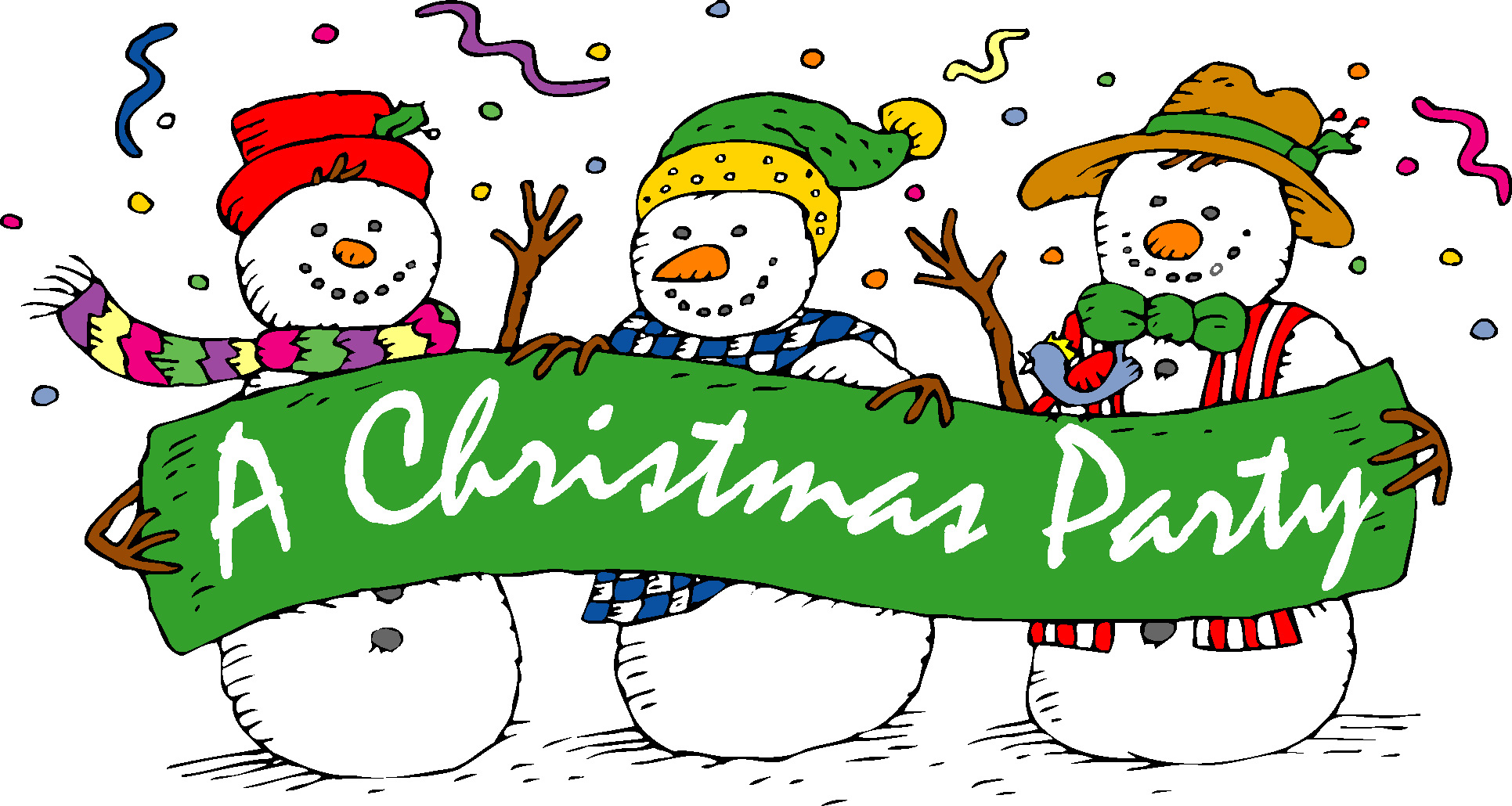 Christmas party images clip art.