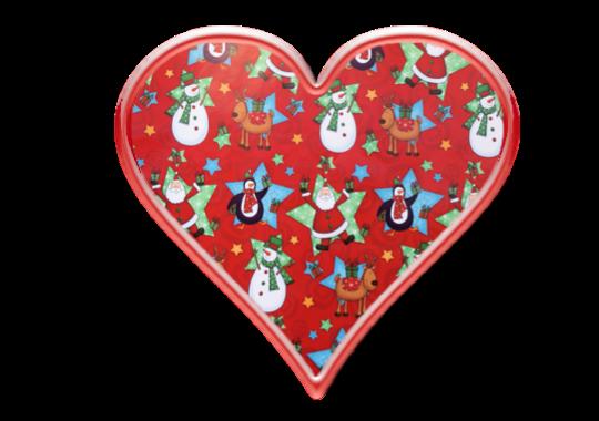 Christmas Heart Clipart ~ Jewels Art Creation.