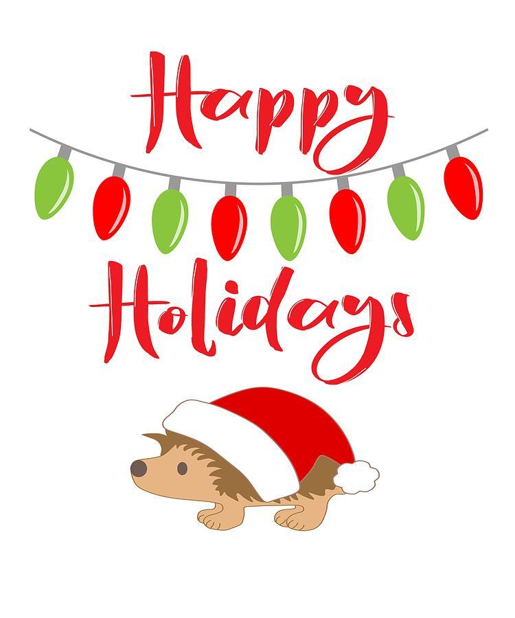 Happy Holidays Hedgehog Christmas Gifts.