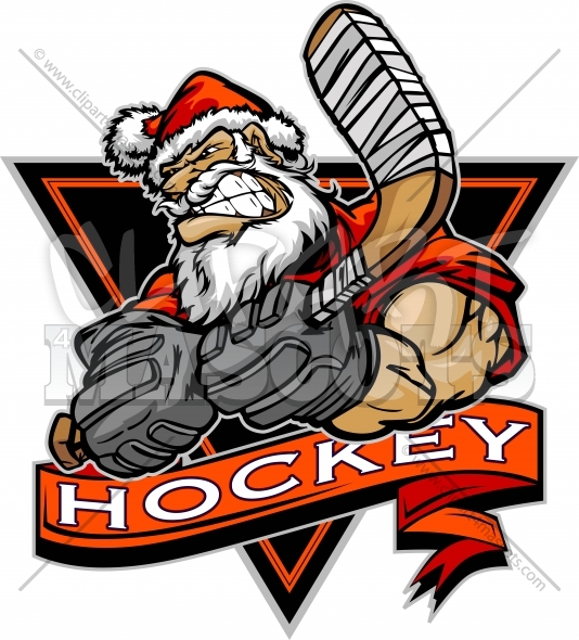 Christmas Hockey Clipart Vector Christmas Clipart Image.