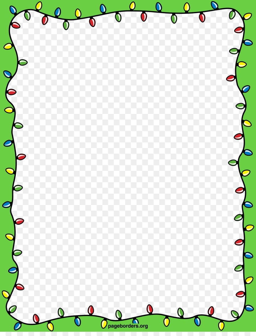 Christmas Holiday Border Clip Art.