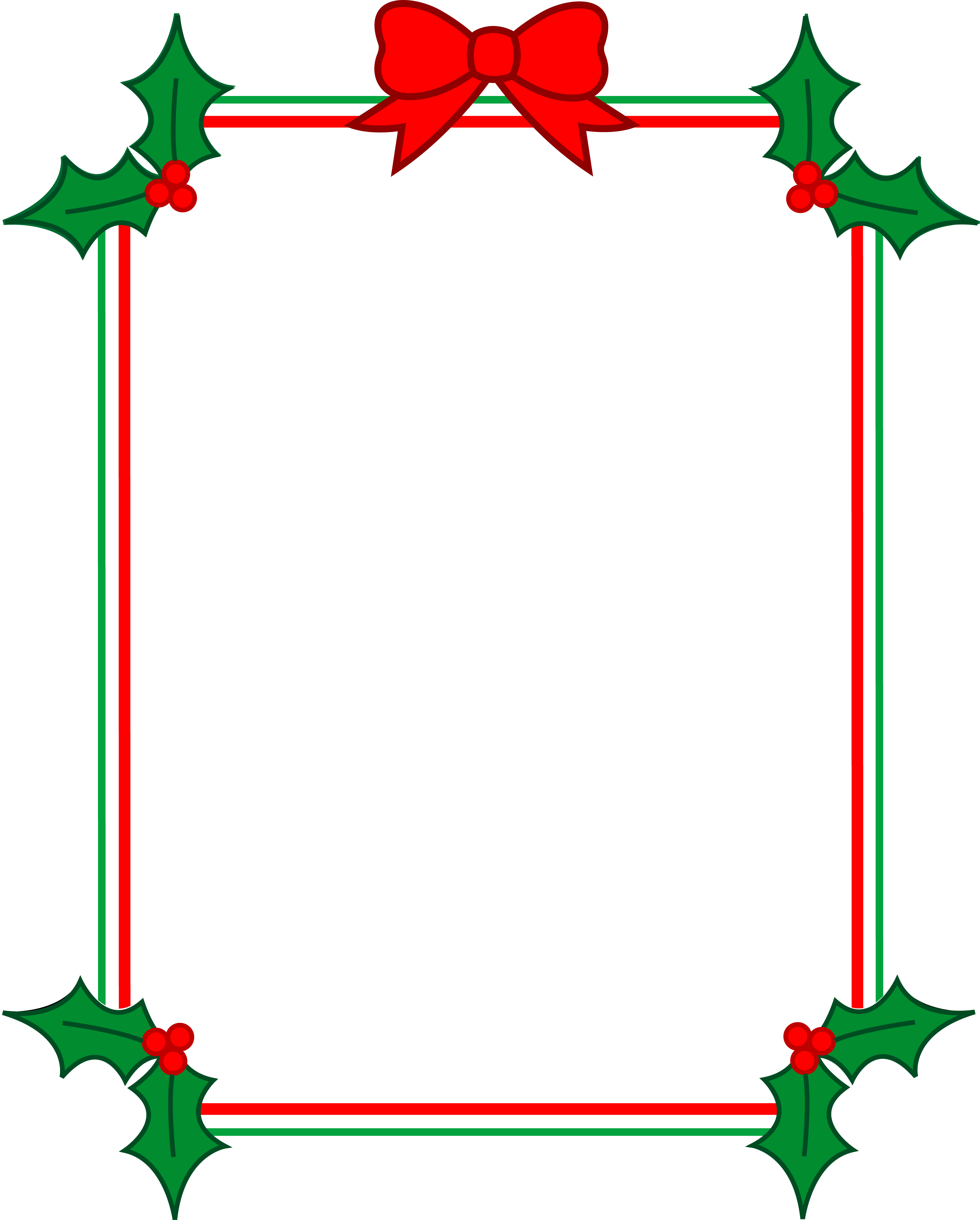 Free Christmas Holiday Borders clipart free image.