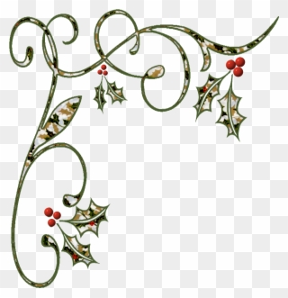 Free PNG Christmas Holiday Borders Clip Art Download.
