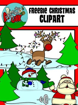 FREEBIE / Christmas / Winter Holiday Scene Clipart.