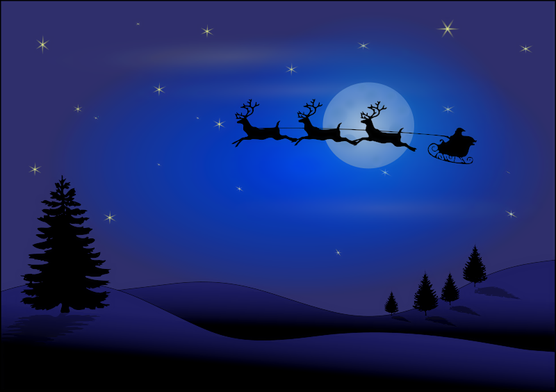 Holiday Scenes Clip Art Christmas Card S #143469.