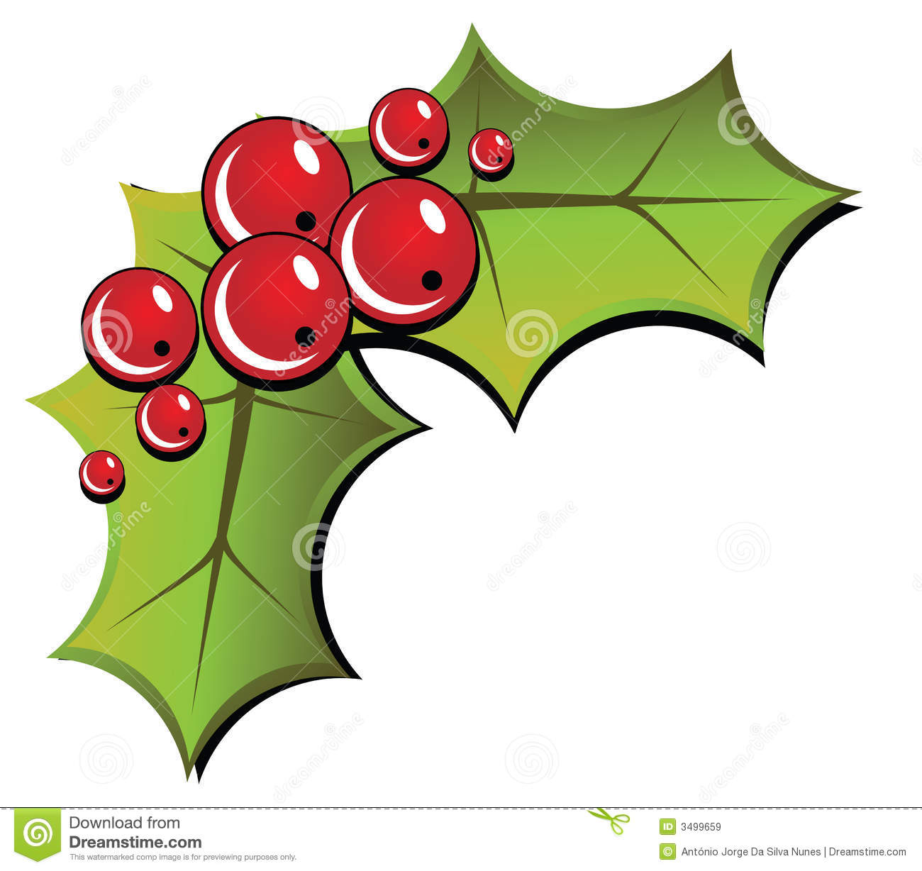 Christmas Holly Royalty Free Stock Images.