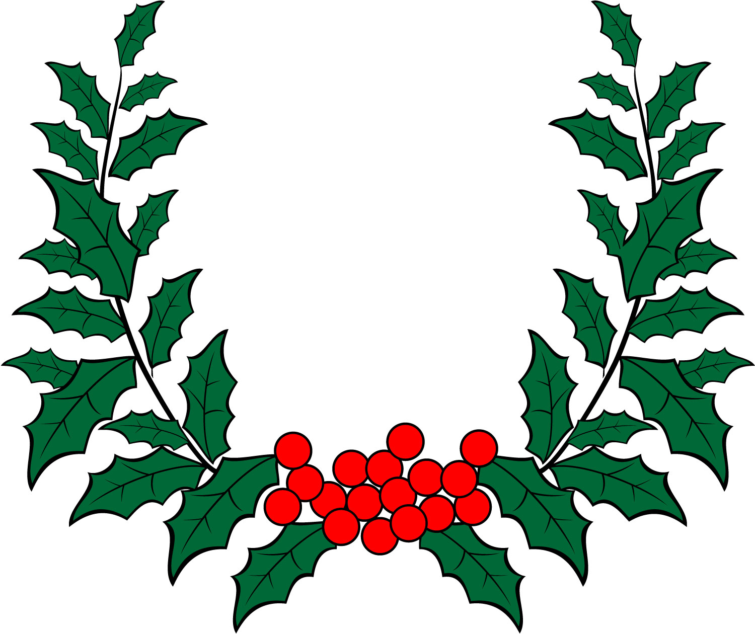 Christmas Holly Abstract Clipart.