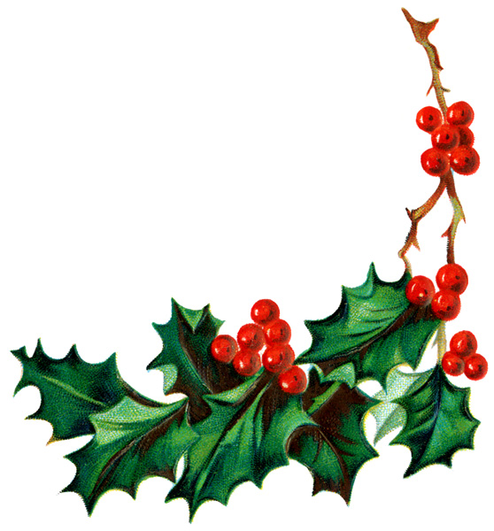 Christmas Holly And Ivy Clipart.