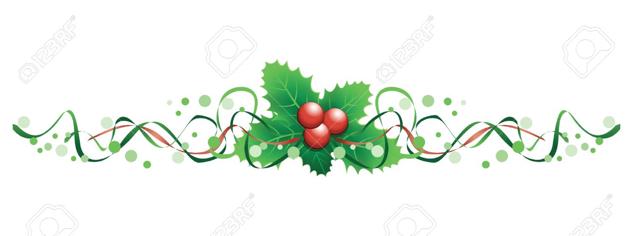 christmas holly banner.