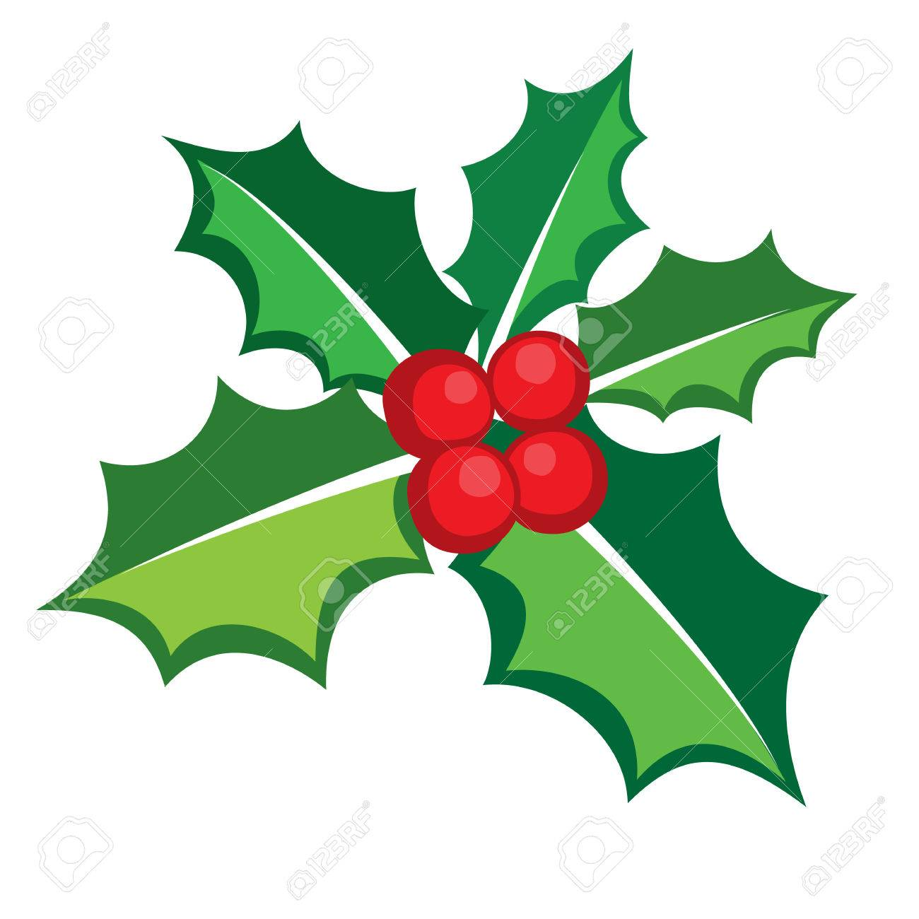 Christmas Holly berry icon banner, vector format.
