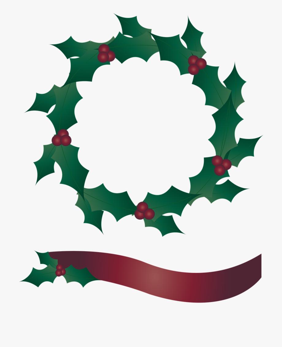 Holly Wreath, Wreath, Banner, Christmas.