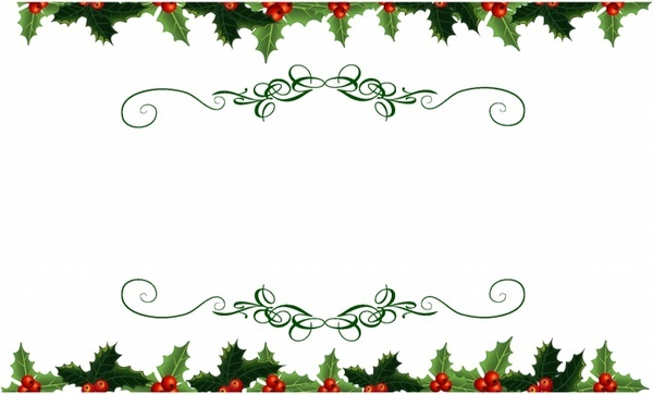 Vector christmas holly banner free vector download (17,016.