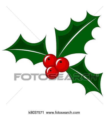 Christmas holly berry Clipart.