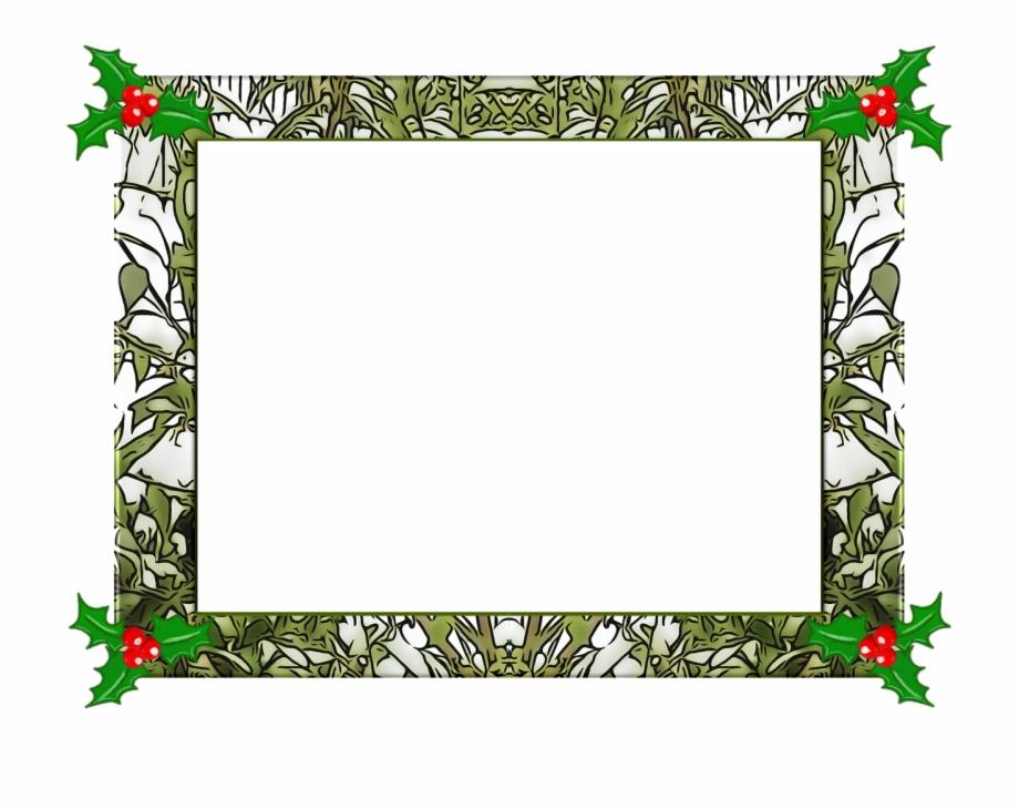Christmas Frame Christmas Holly Png Image.