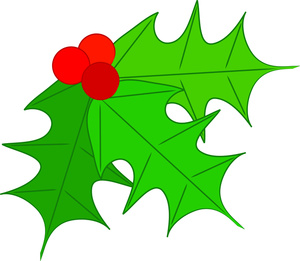 Christmas holly clipart free.