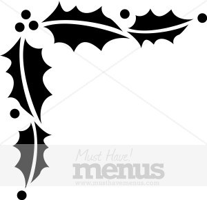Christmas holly clipart black and white 6 » Clipart Portal.