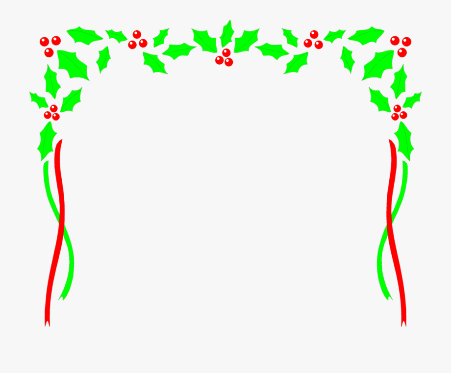 Free Christmas Clip Art Black And White Borders Frames.