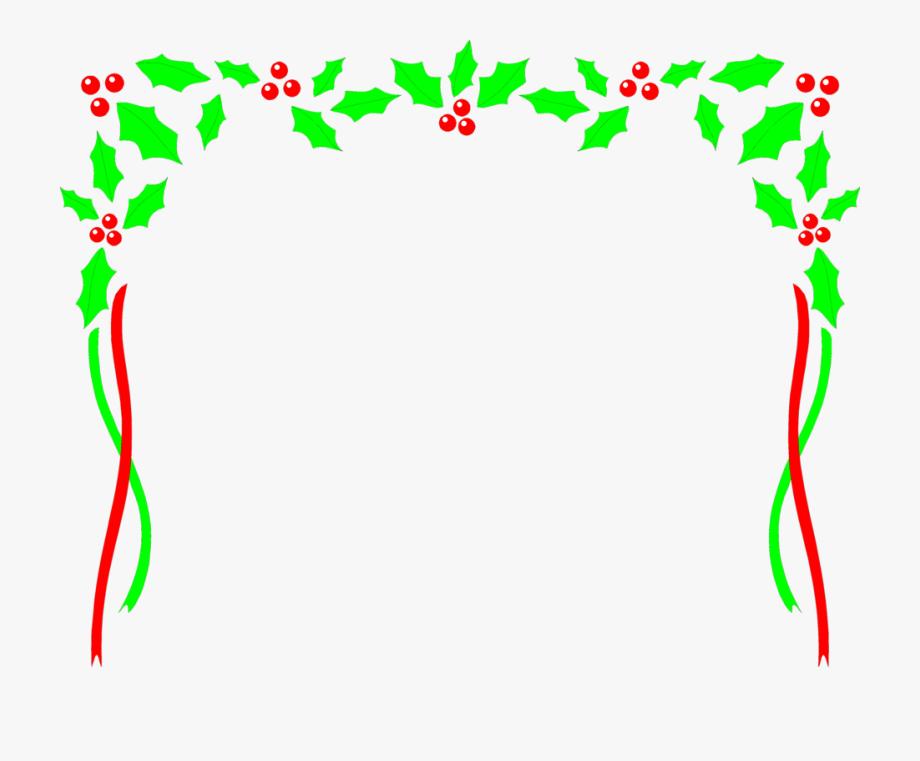 Free Christmas Clip Art Black And White Borders Frames.