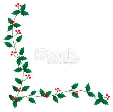 Christmas Holly Border Clipart.