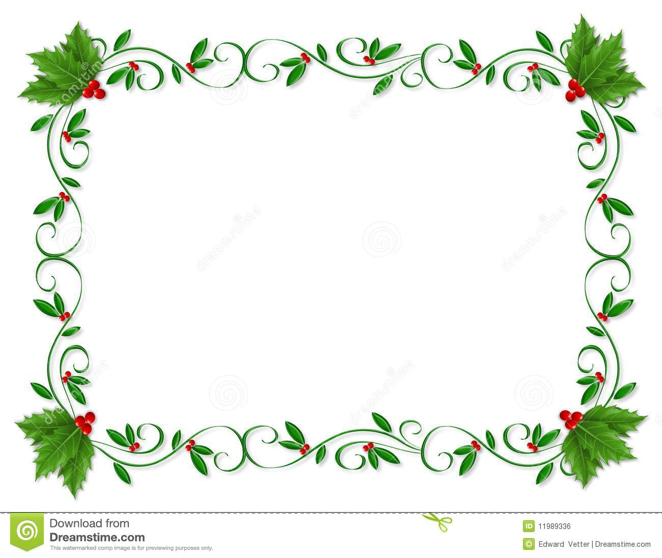 2596 Holly free clipart.