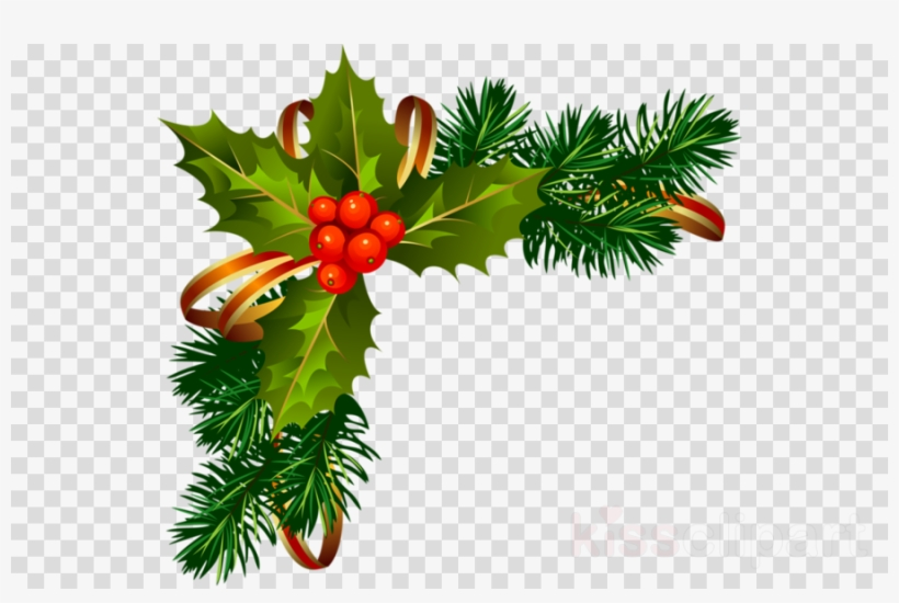 Holly Png Clipart Christmas Border Clipart.