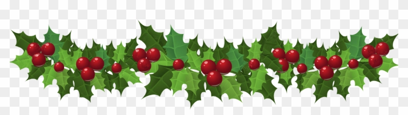 Holly Holly Garland Christmas Border Clipart.