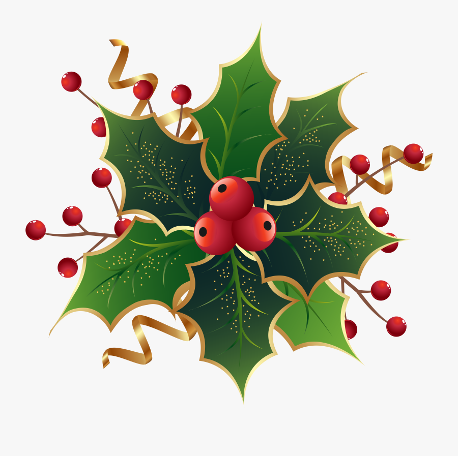 Clip Art Holly Clipart Transparent Background.