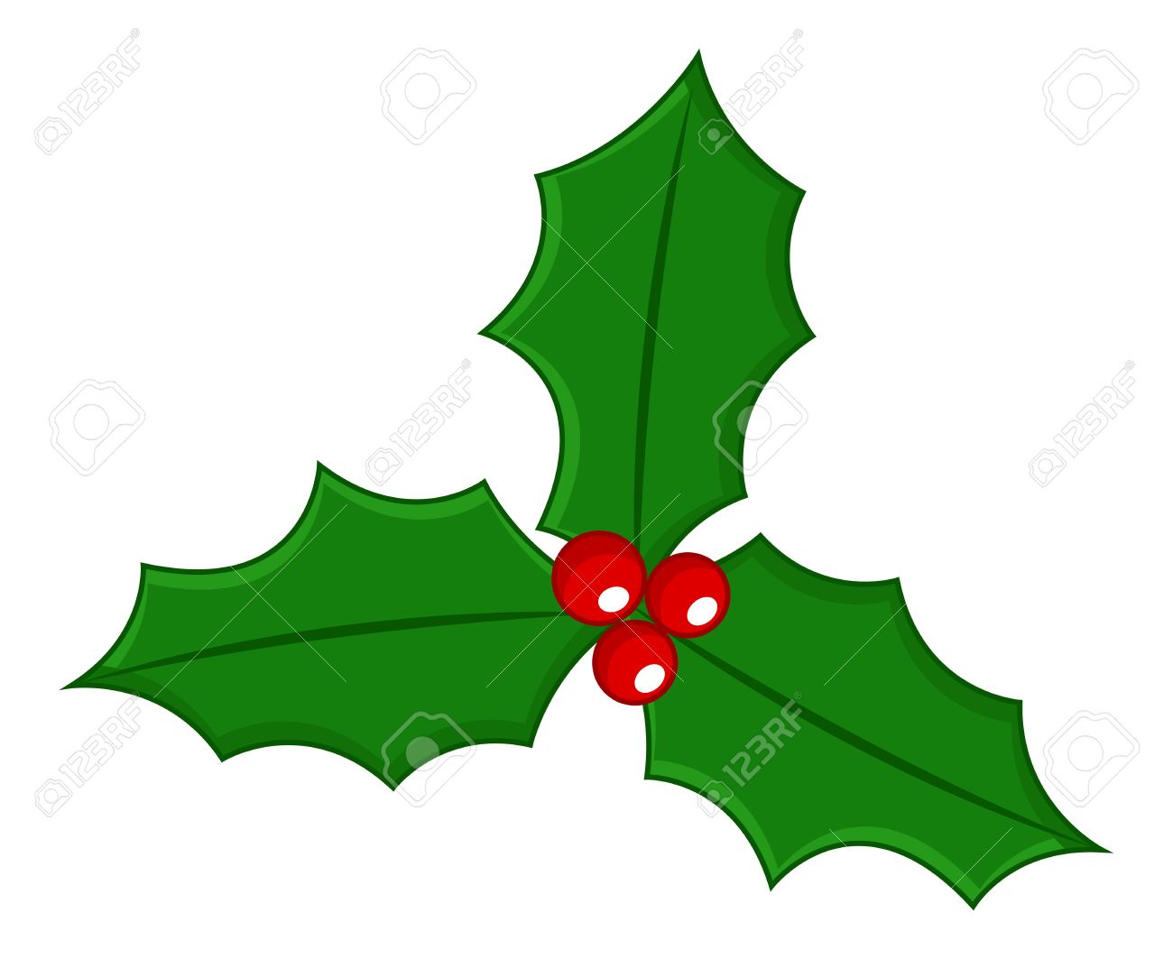 Holly Leaf Clipart.
