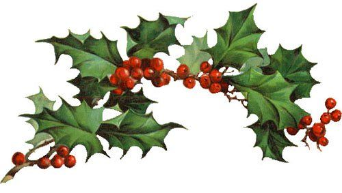 Christmas Clipart Holly Vintage.