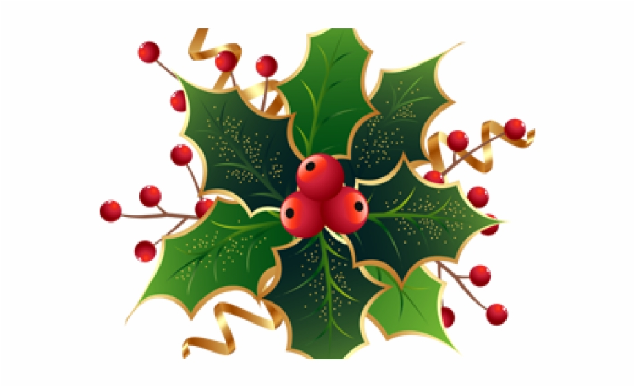 Transparent Background Christmas Holly Clipart, Transparent Png.