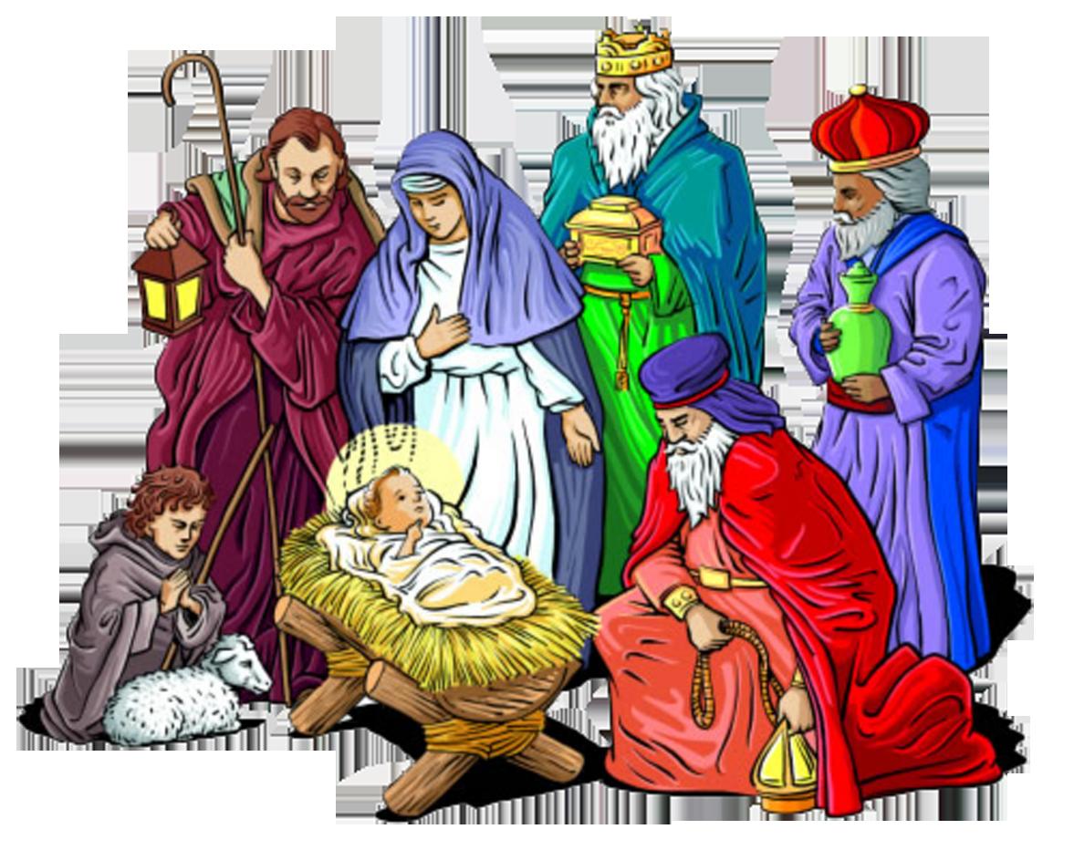 Holy Family Nativity of Jesus Christmas Nativity scene Clip.